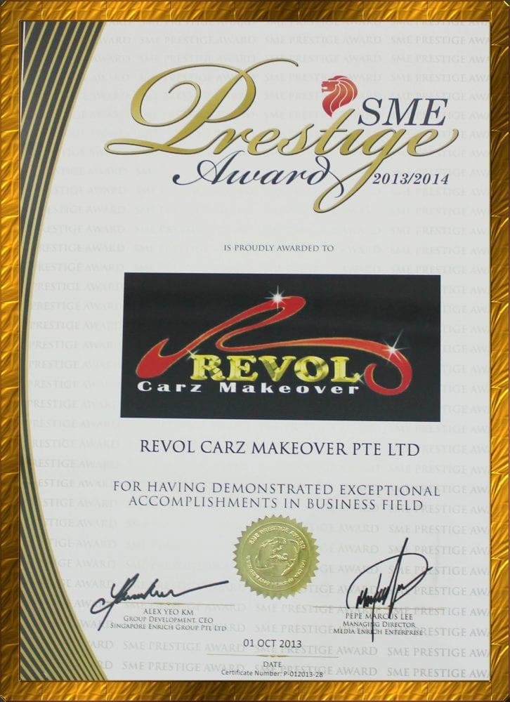 SME Prestige 2014 Awarded to Revol Carz Makeover