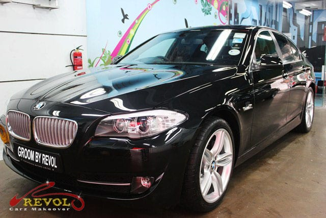 Bmw active hybrid 5 with zetough paint protection