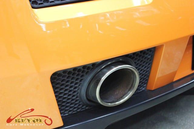 Lamborghini Spyder - exhaust pipe