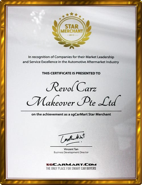 Star Merchant Award from sgCarMart