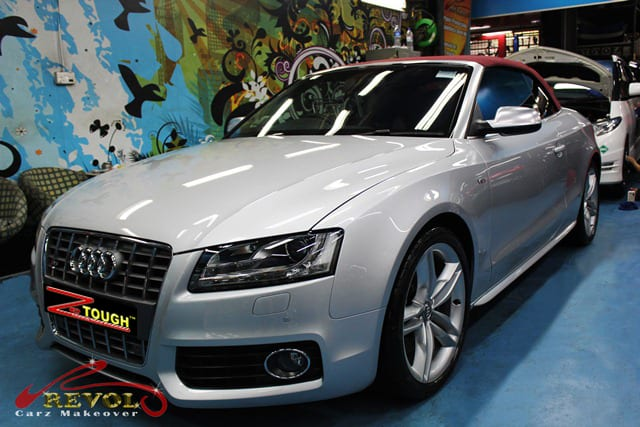 ZeTough Glass Protection Coated on Audi S5 Cabriolet