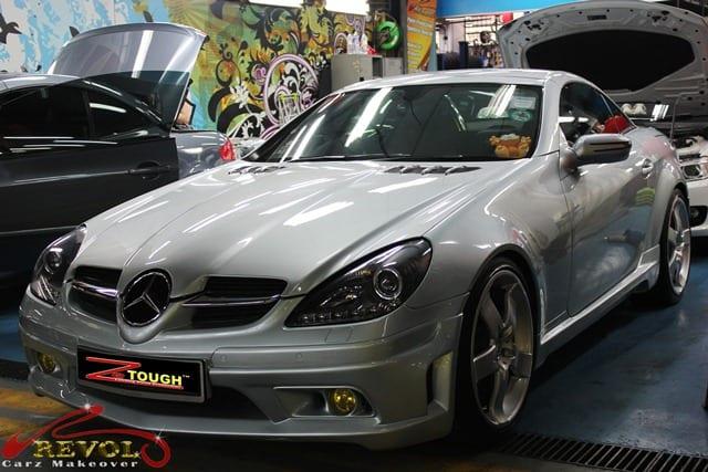 ZeTough Glass Coating Applied on Mercedes SLK350