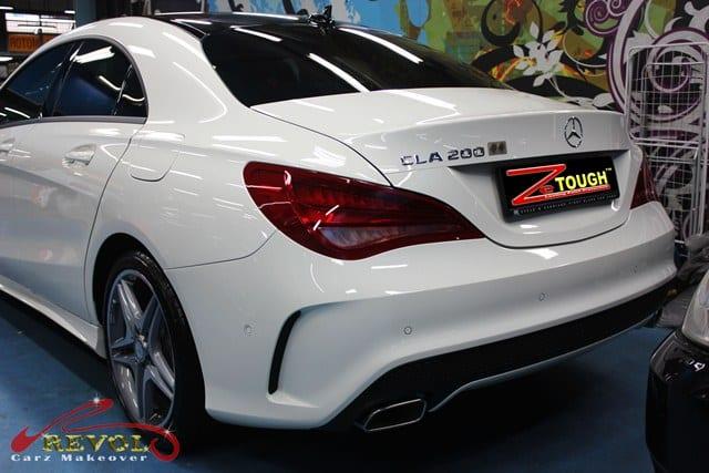 Mercedes Benz Cla With Zetough Glass Coating Paint
