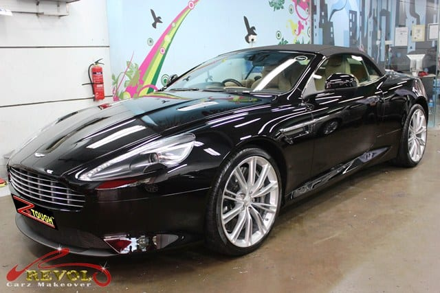 Powerful Aston Martin DB9 Volante in ZeTough Ceramic Coating