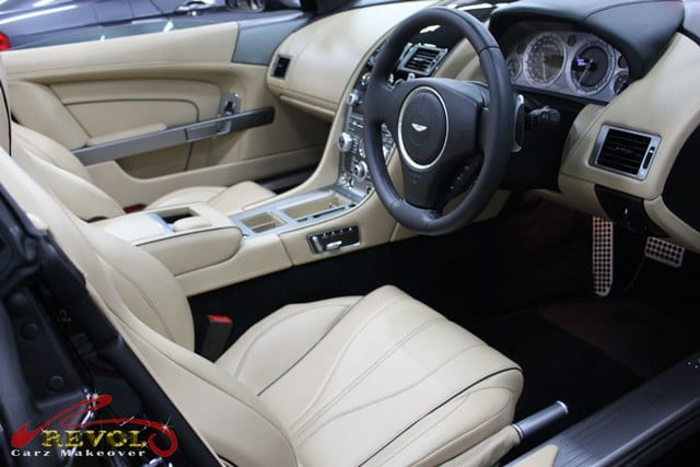 aston martin db9 volante with zetough ceramic paint protection coating revol car grooming. Black Bedroom Furniture Sets. Home Design Ideas