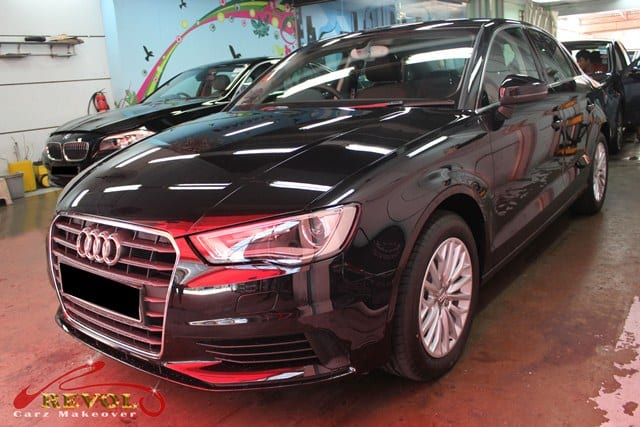 2014 Audi A3 Sedan complete with ZeTough Safety  Coating