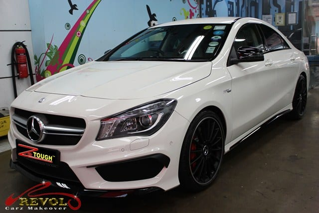 Mercedes Benz CLA45 AMG with ZeTough Ceramic Coating