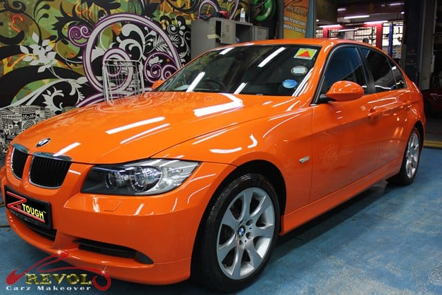 BMW 3 series change colour (10)