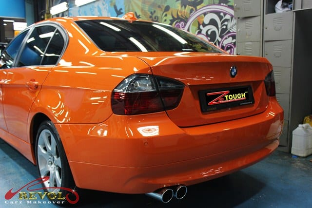 Full car spray paint: BMW 320i in ZeTough Glass Coating