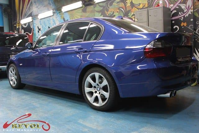 Full car spray paint: BMW 320i in ZeTough Glass Coating