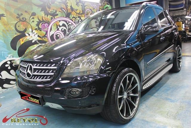 Mercedes benz ml500 with zetough ceramic paint protection for Mercedes benz paint protection package