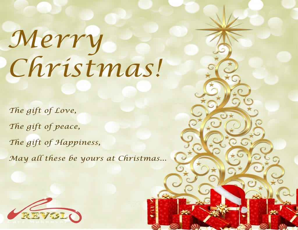 Wishing You All A Merry Christmas Revol Car Grooming