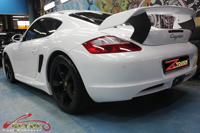Porsche Cayman Full Car Colour Change Spray Painting With