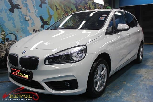 bmw 218i active tourer with zetough ceramic paint protection coating revol car grooming. Black Bedroom Furniture Sets. Home Design Ideas