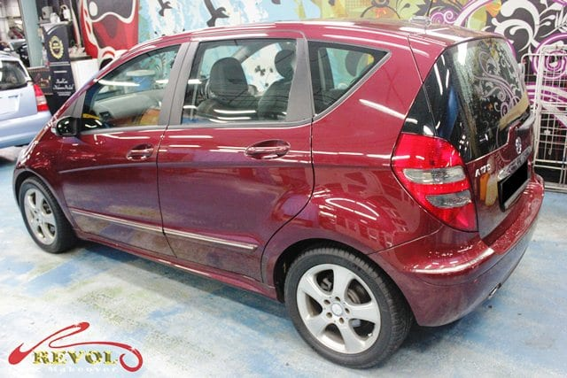 mercedes a170 full car colour change spray painting with. Black Bedroom Furniture Sets. Home Design Ideas