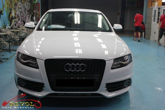 audi a4 full car spray painting with zetough ceramic. Black Bedroom Furniture Sets. Home Design Ideas