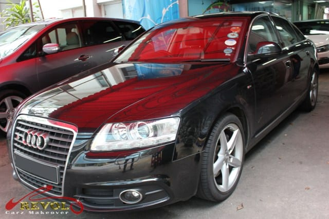 Audi A6 Full Car Spray Paint with Glossy Ceramic Coating