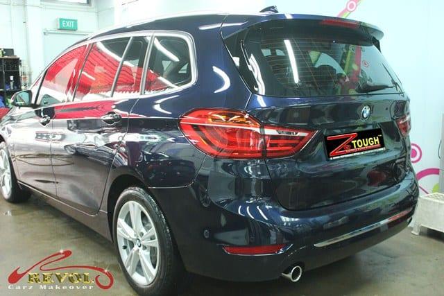 BMW 216D - rear