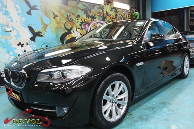 bmw 523i full car spray painting with zetough ceramic. Black Bedroom Furniture Sets. Home Design Ideas