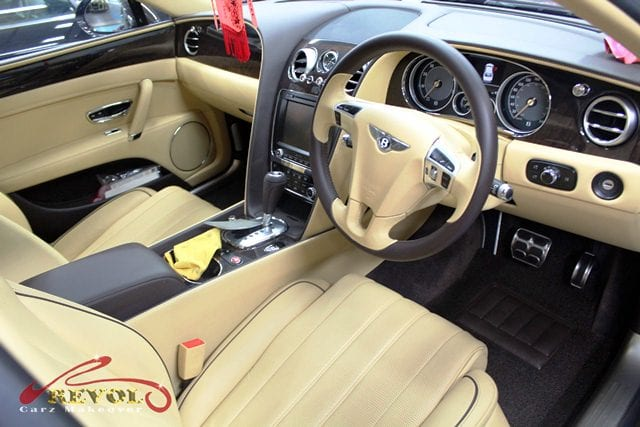 The Bentley Flying Spur - handcrafted interior