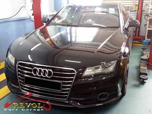 An Audi A7 arrived at Revol Carz Garage for the Gear control