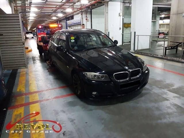 BMW 320i arrival at our workshop