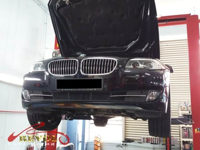 A BMW 523i had issue related to auto transmission oil cooler | Revol