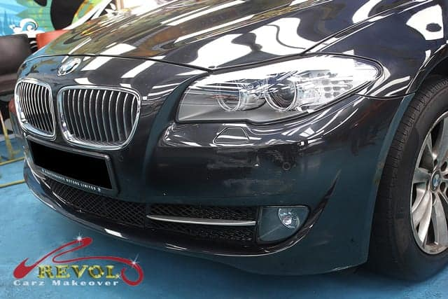 Maintaining Sapphire Black BMW 523i with Paint Protection