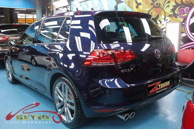 Repainting with Coating Protection of Volkswagen Golf A7