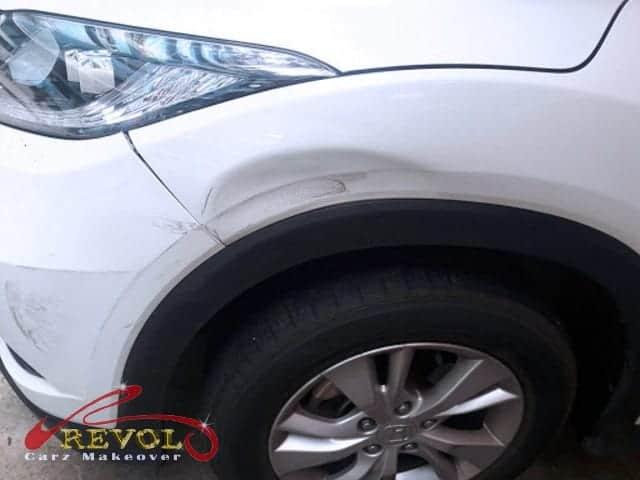 Honda Vezel Paint Damage- Before