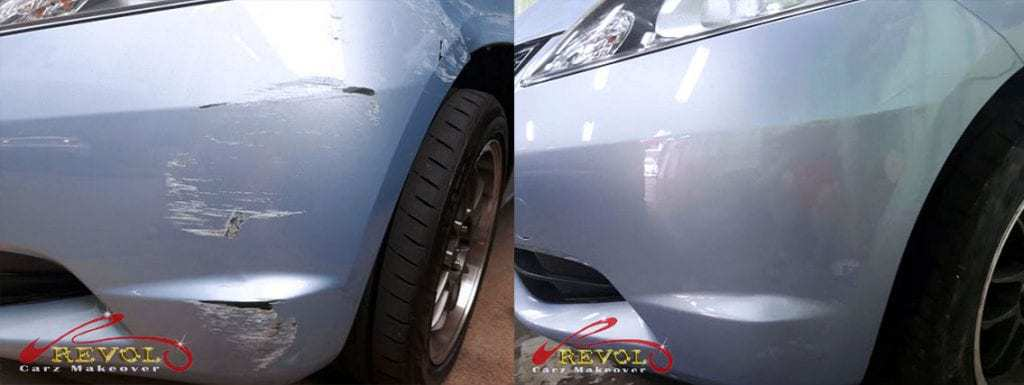 Before and After Bumper Damage