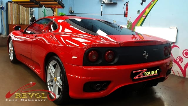 Titanium Paint Protection Coating on FERRARI 360MODENA F1