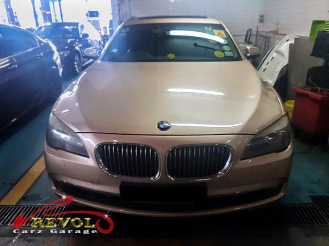 Faulty air-conditioner diagnosis of BMW 740Li fixed ASAP
