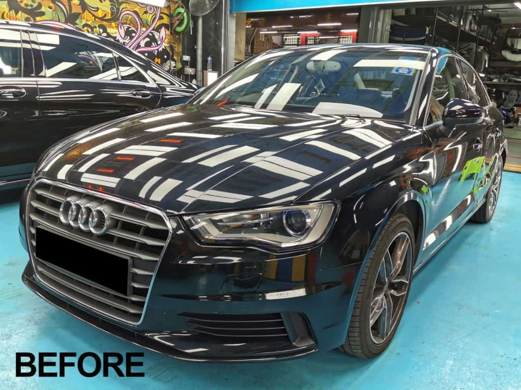 The astounding transformation of this Black Audi A3