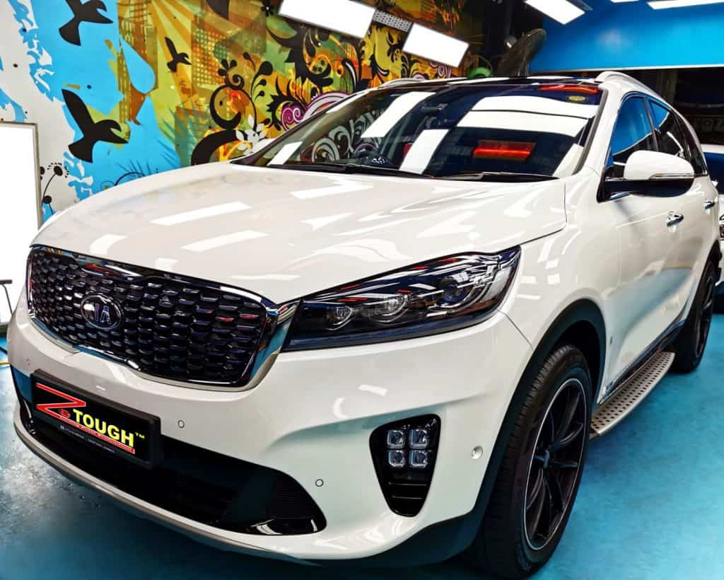 Brawny Kia Sorento Polished With Ceramic Paint Protection