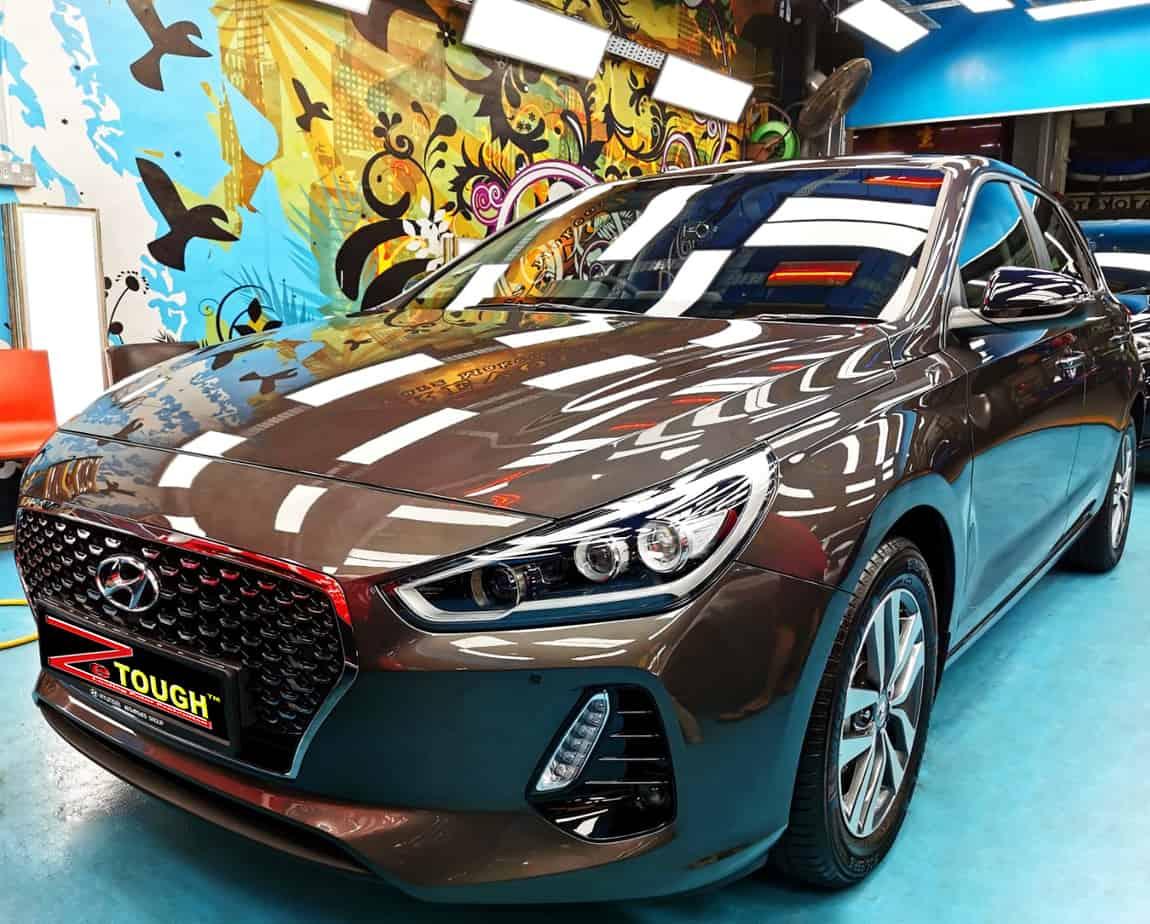 Hyundai I30 for Ceramic Paint Protection treatment at Revol