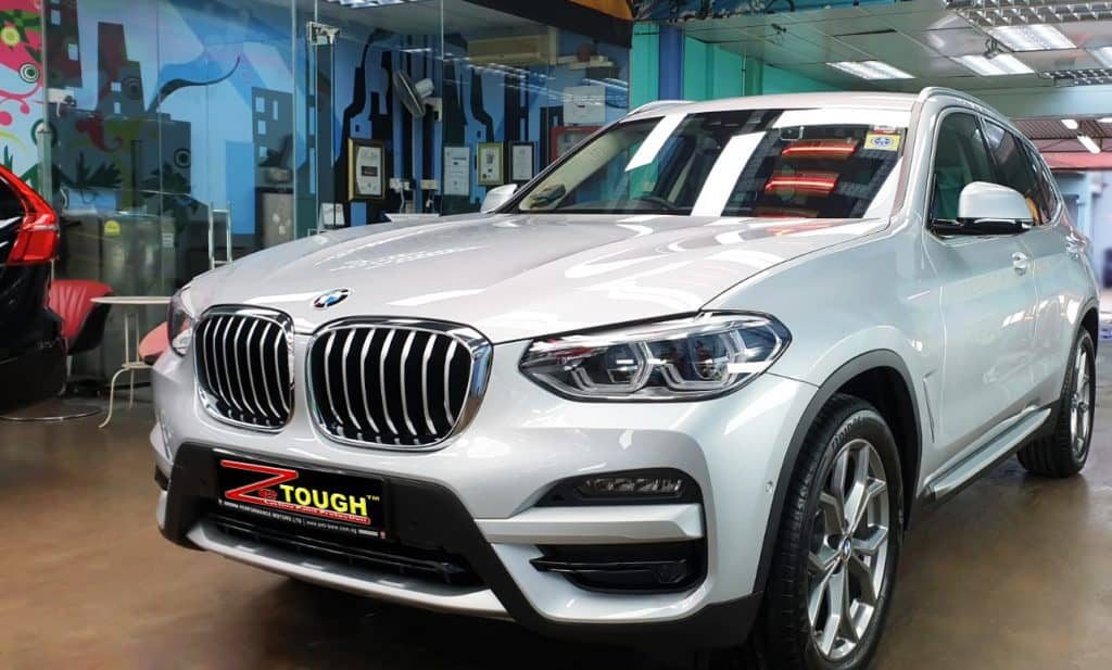 The nice gloss of BMW X3 after Zetough Ceramic coating