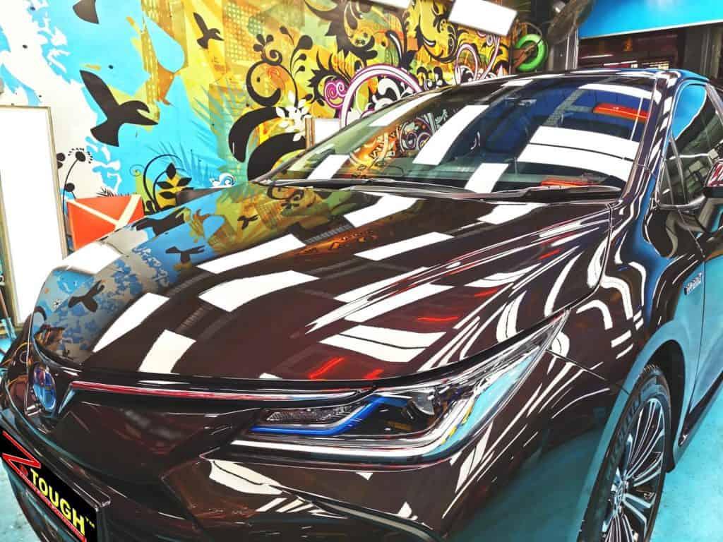 ZeTough Titanium Paint To Get A Shiny Toyota Corolla Altis