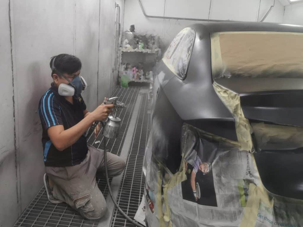 Day 6 Following up on this Audi A3 for full spray painting!
