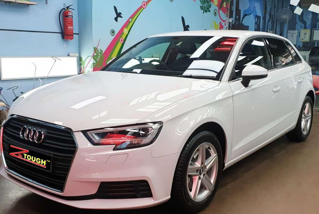 Coating Brand New Audi A3 with Titanium Paint Protection
