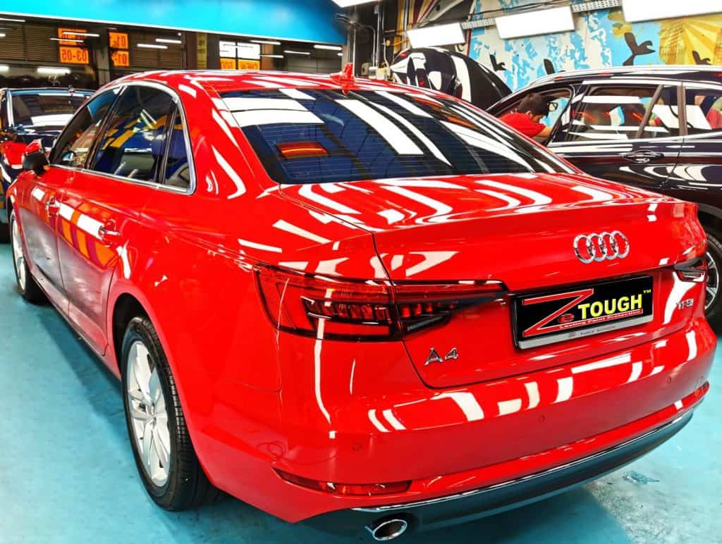 Sizzling Hot Audi A4 With ZeTough Paint Protection