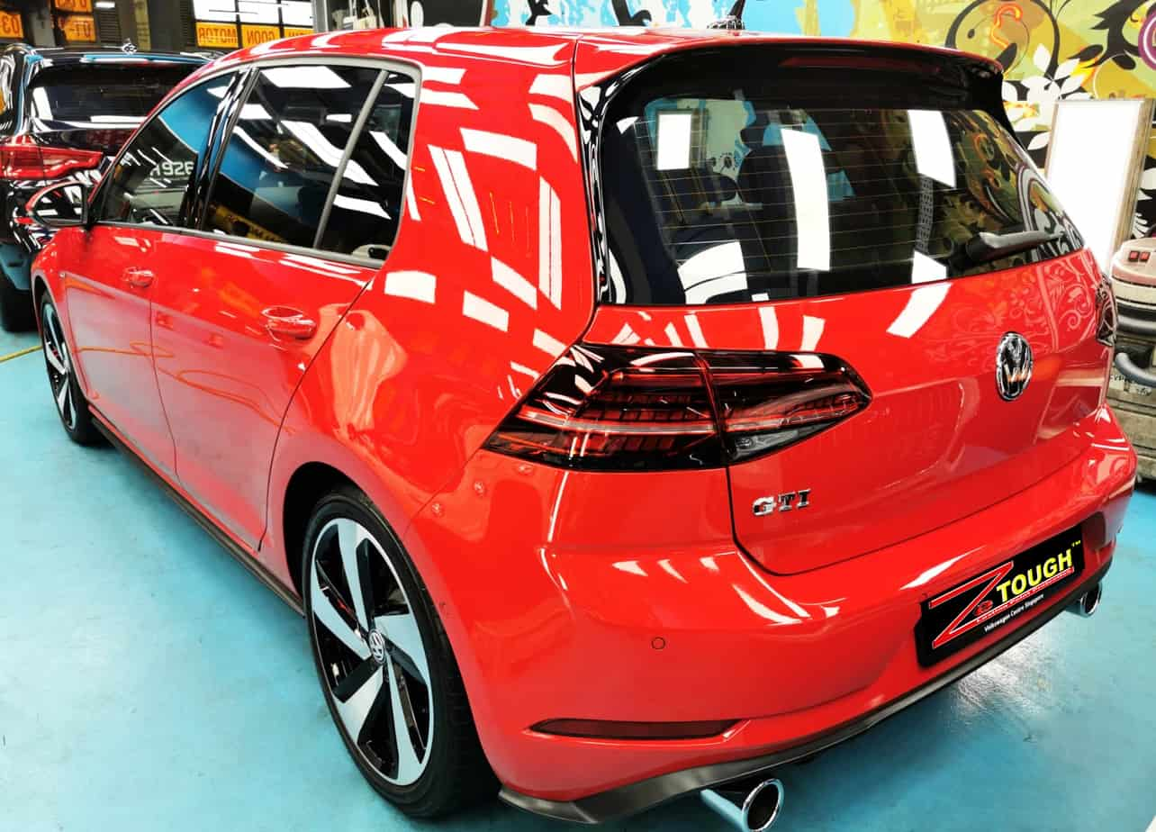 Red Hot Volkswagen Golf - rear
