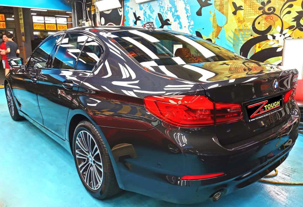 Dashing BMW 520I came for Ceramic Paint Protection Services