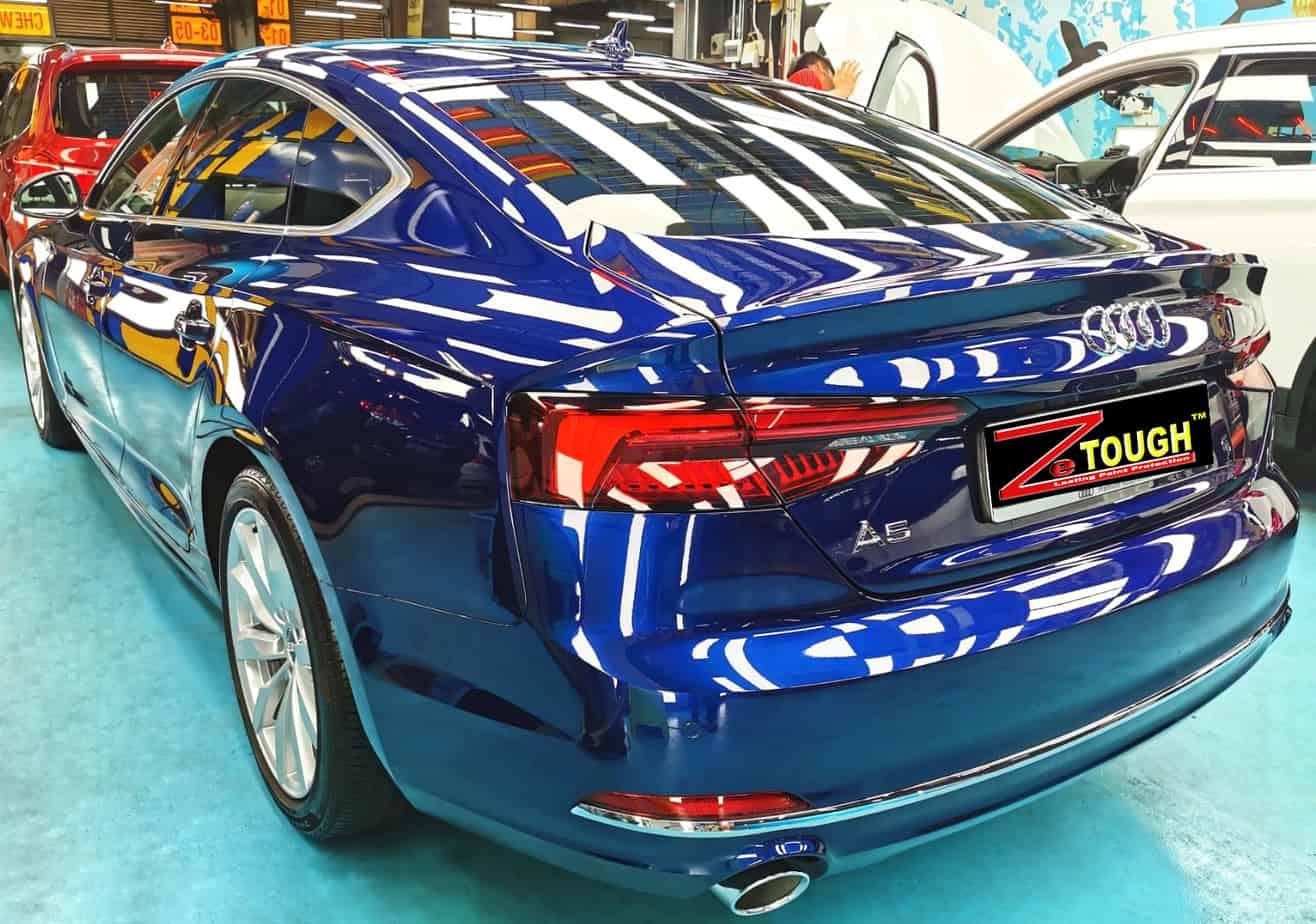 Stunning Blue Audi A5 - rear