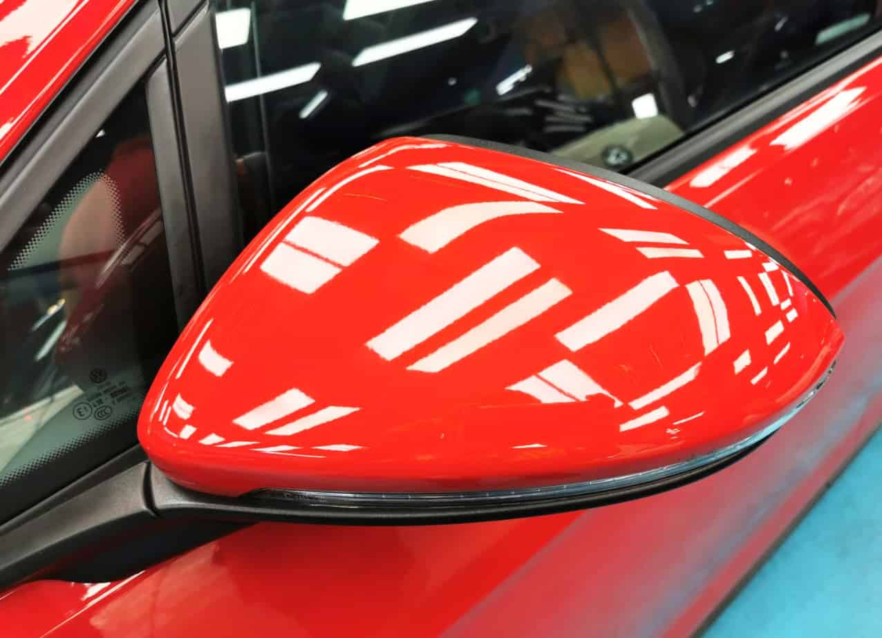 Red Hot Volkswagen Golf - side mirror