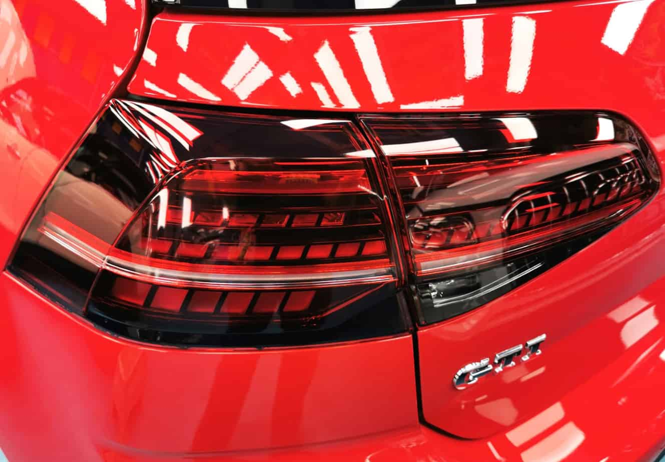 Red Hot Volkswagen Golf - taillights