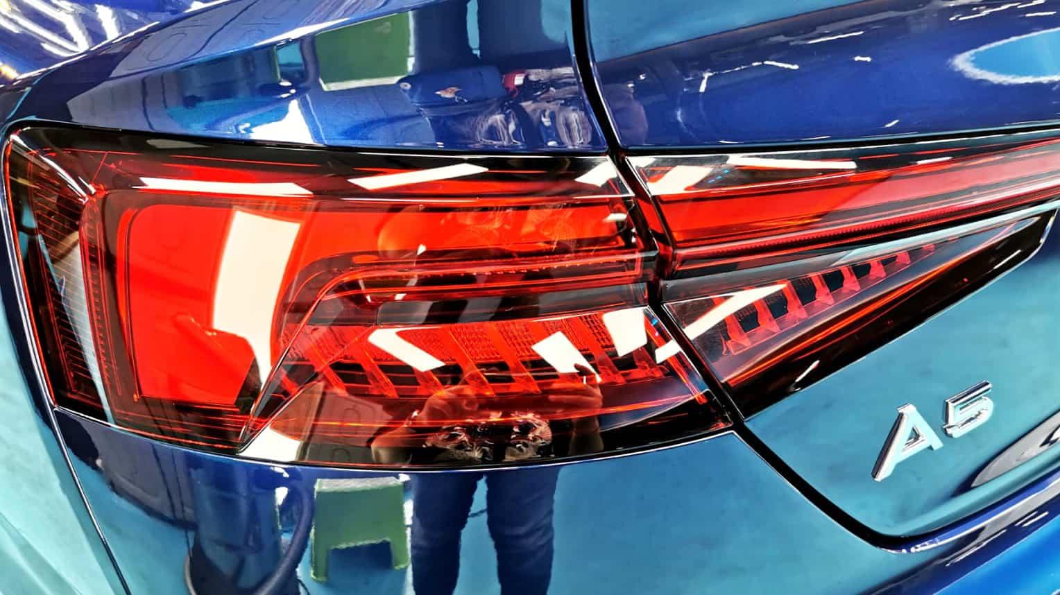 Stunning Blue Audi A5 - taillights