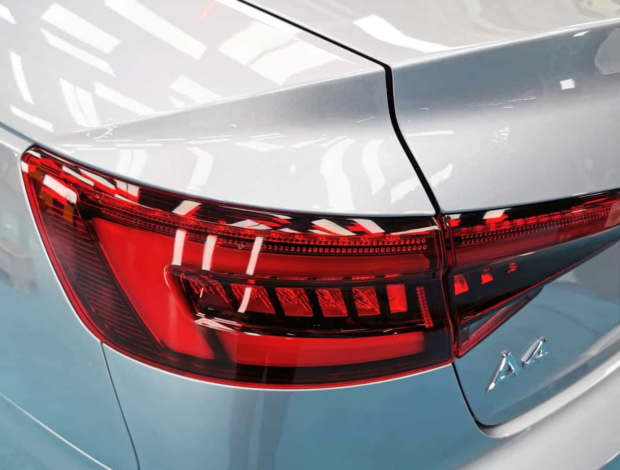 An elegant Audi A4  - taillights