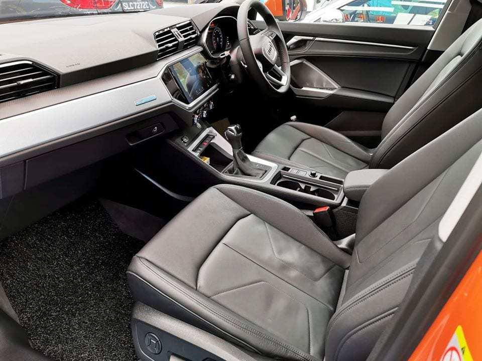 An Audi Q3 - front seat