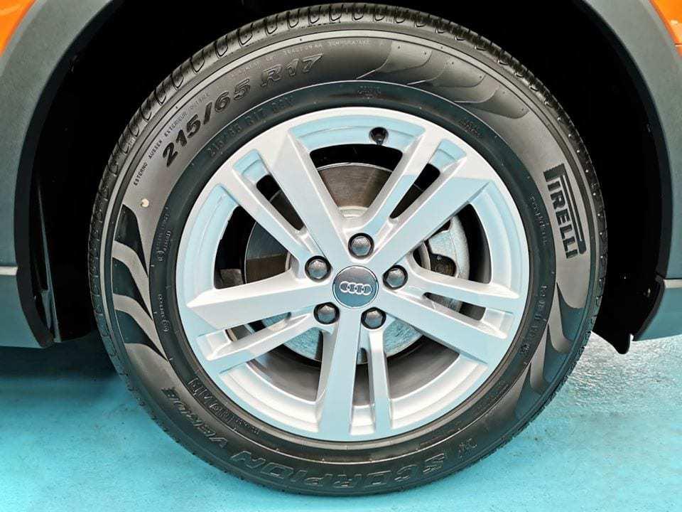 An Audi Q3 - wheels